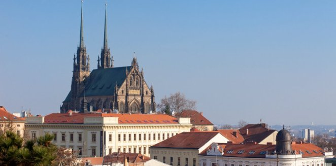 A classic view of the City of Brno.